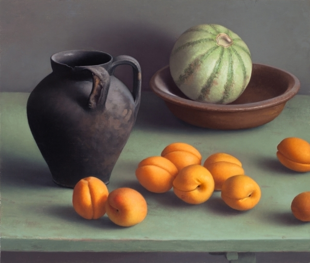 , 'Still Life with Black Vase and Apricots,' 2016, Clark Gallery