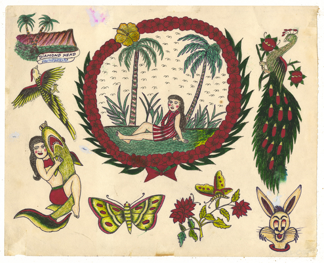 , 'Untitled (Girl Under Palm Trees),' 1950-1980, Ricco/Maresca Gallery
