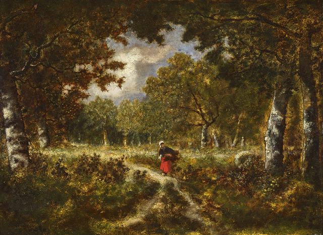 Narcisse-Virgile Diaz de la Peña, 'Wood Gatherer on a Trail', ca. 1870, Gallery 19C