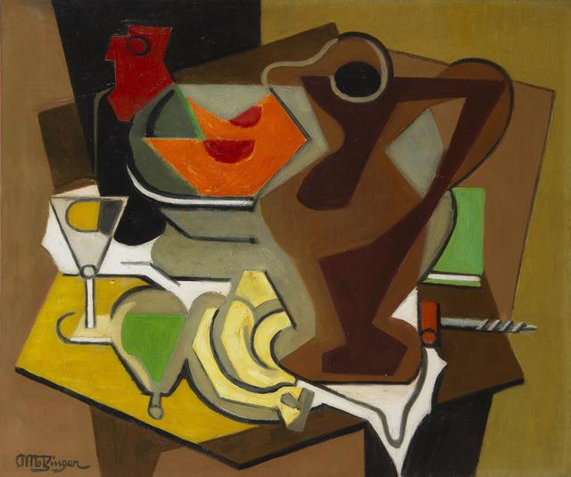 Jean Metzinger, 'Pichet, fruits et tire-bouchon', 1950-1956, HELENE BAILLY GALLERY