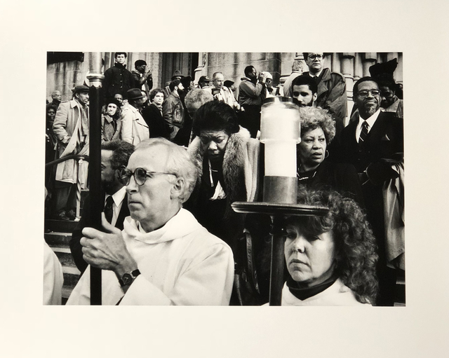Thomas Allen Harris, 'Amiri Baraka, Maya Angelou & Toni Morrison at James Baldwin's Funeral at Cathedral of St. John the Divine c.1987', 1987, Photography, Selenium print on fiber paper, Visual AIDS Benefit Auction