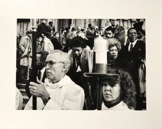 Amiri Baraka, Maya Angelou & Toni Morrison at James Baldwin's Funeral at Cathedral of St. John the Divine c.1987
