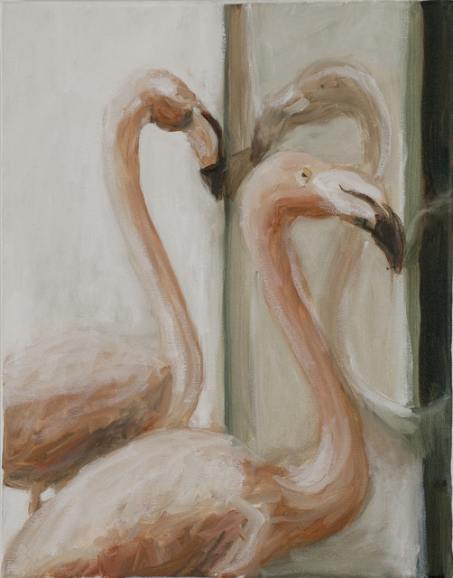, 'Flamingos in the window,' 2017, frosch&portmann