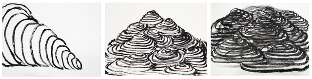 , 'Muntanyes 1, 2, 3,' 2014, Galería Joan Prats