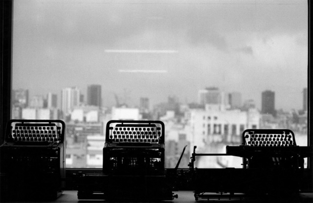 ", 'From the series ""Estampas Porteñas"",  ""View from the office, Centro Cultural San Martín"",' 1987, Rolf Art"