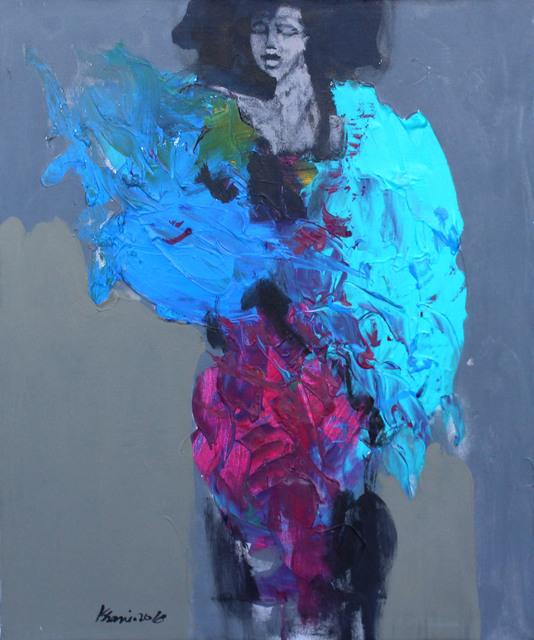 Khalid El-Khani, 'Lady in Blue', 2018, Orient Gallery