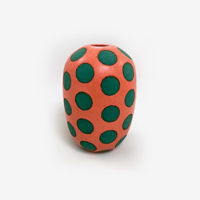 Matthew Ward, 'Coral and Green Polka Dot Vase', 2017, Uprise Art