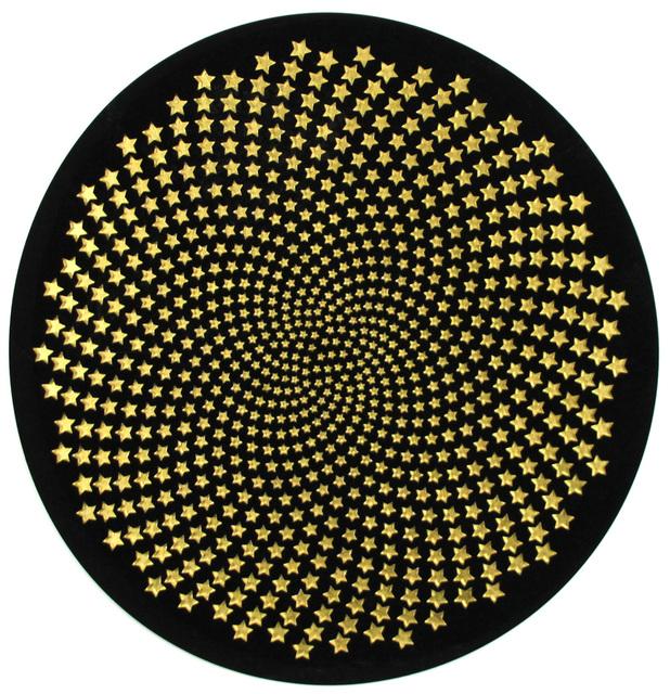 , 'Black Circle with Stars,' 2018, Gormleys Fine Art