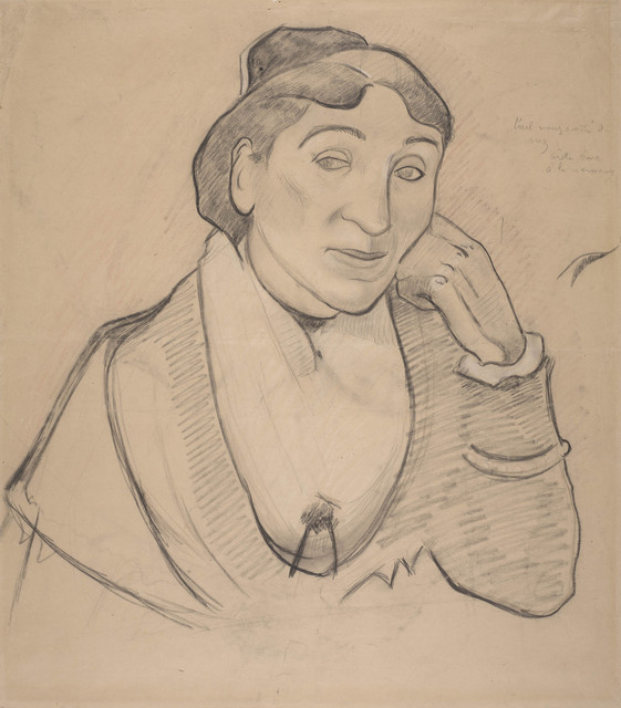 , 'L'arlésienne, Mme. Ginoux (The Woman from Arles, Madame Ginoux),' 1888, de Young Museum
