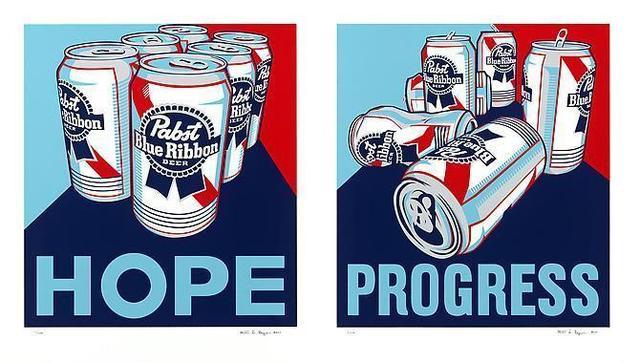 , 'Hope & Progress (Diptych),' 2010, Vertu Fine Art