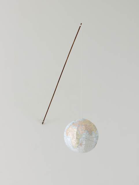 Vija Celmins, 'Globe', 2009-2010, Sculpture, Colored pencil and printing ink on Japanese paper, wood, metal, and string, San Francisco Museum of Modern Art (SFMOMA)