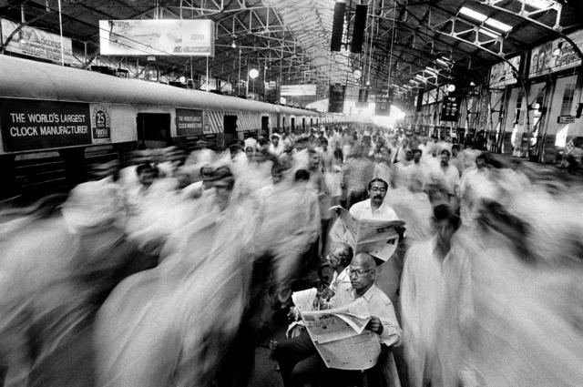 , 'Rush at Local Train Church Gate, Mumbai ,' 1996, PHOTO IS:RAEL
