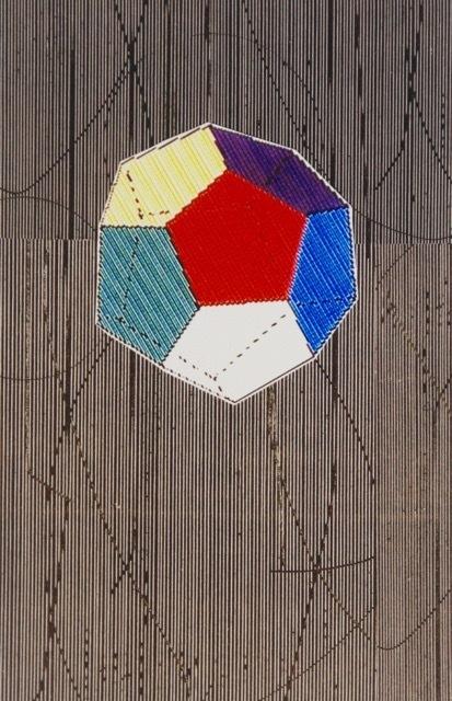 Five Geometric Solids #4 Digital print on paper 19 x 13 inches