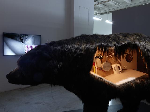 , 'Dans la peau de l'ours (Inside the skin of a bear),' 2014, Palais de Tokyo