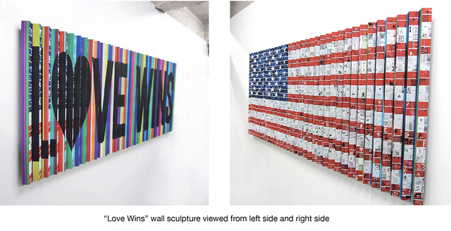, 'Love Wins (American Flag),' 2018, Lanoue Gallery