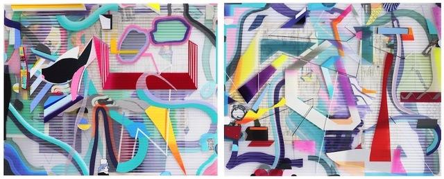 , 'Red Wheelbarrow (diptych),' 2018, 532 Gallery Thomas Jaeckel