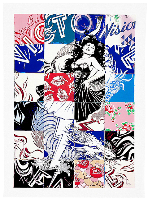 FAILE, 'VISIONS VICTOIRE', 2017, Silverback Gallery