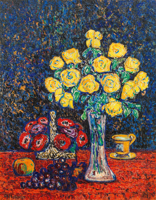 , 'Still life with Yellow Roses,' 1914, Galerie Kovacek & Zetter