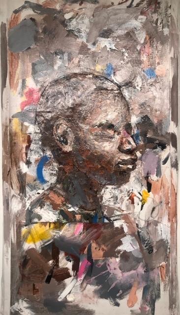Julien Trésor Kandolo (KANDO), 'New man 2', 2019, Painting, Mixed Media on Canvas, Gugsa Black Arts Collective