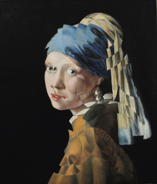 , 'Girl With A Pearl Earring (after Vermeer),' 2018, Jewel Goodby Contemporary
