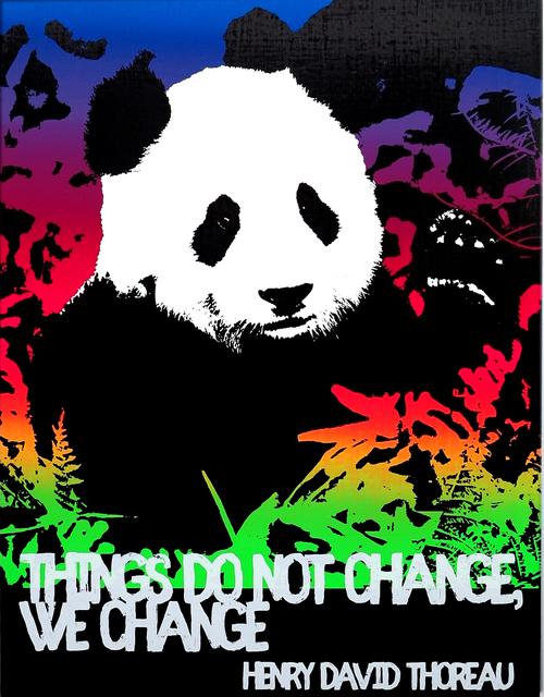 , 'Motivational Panda (Henry David Thoreau),' 2017, Rod Bianco Gallery