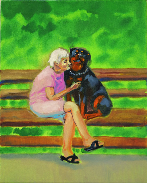 , 'Old Lady with a Rottweiler,' 2019, Rosenfeld Gallery