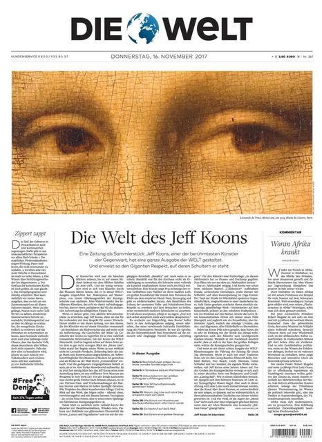 , 'Die Welt Newspaper - Collector's Edition,' 2017, MLTPL