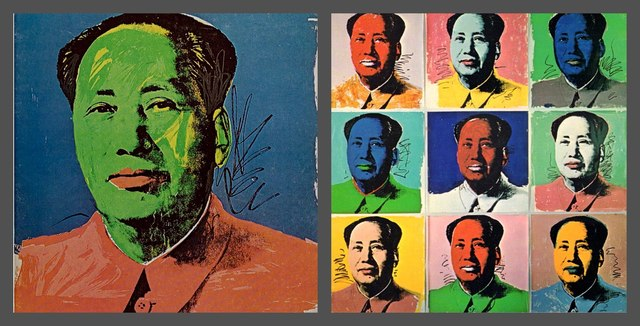 Andy Warhol, 'Chairman Mao (Mao Tse-Tung) ', 1972, Print, Silkscreen on fold-out Invitation Card. Unframed., Alpha 137 Gallery