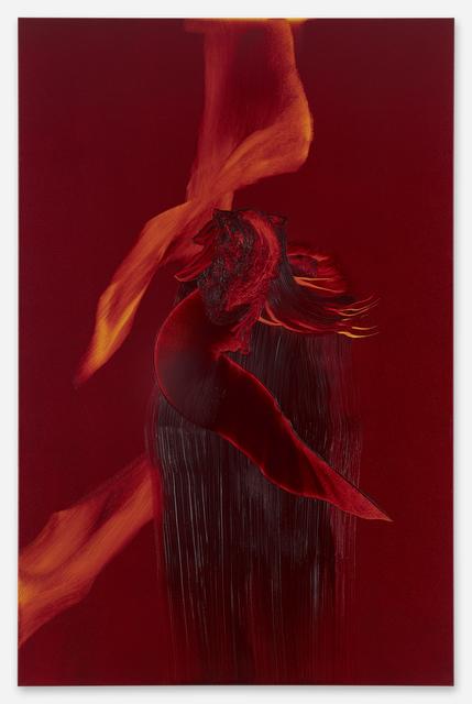 , 'Unitled (Alizarinkarmesin),' 2019, Galerie Christian Lethert