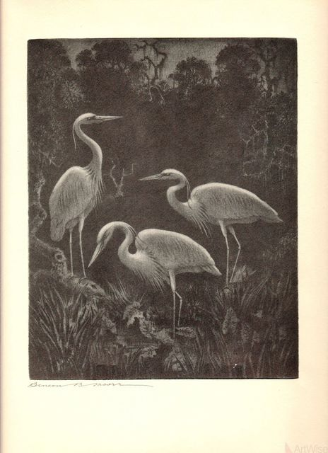 , 'White Herons at Home,' 1936, ArtWise