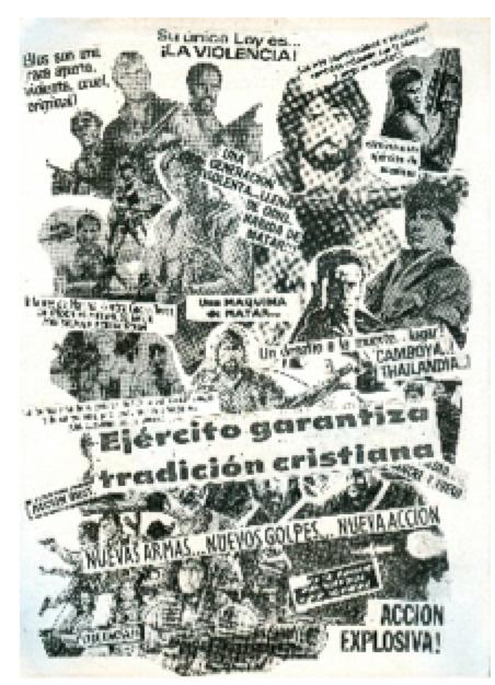 , 'Ejército garantiza tradición cristiana,' 1988, Herlitzka + Faria