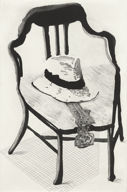 David Hockney, 'Panama Hat with a Bow Tie on a Chair', 1998, ClampArt