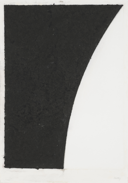 , 'Colored Paper Image VI (White Curve with Black II),' 1976, Susan Sheehan Gallery