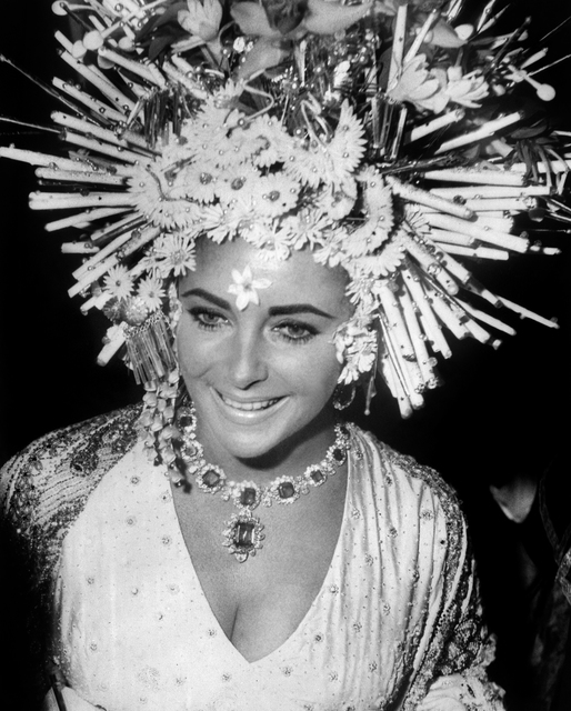 , 'Elizabeth Taylor wears Bulgari jewellery at the masked ball, Hotel Ca'Rezzonico, Venice ,' 1967, Victoria and Albert Museum (V&A)