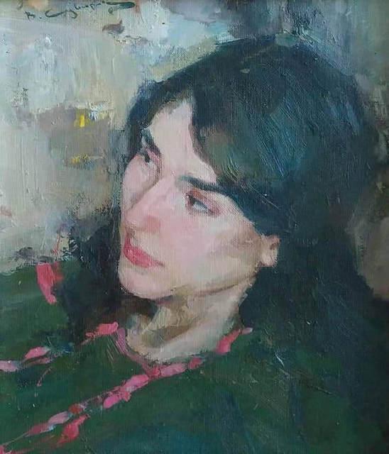, 'Portrait in Green,' 2018, Vanessa Rothe Fine Art