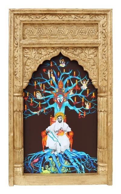 , 'Al Hadi III Series, The Zayed Al Khair Collection part II, Al Hadi III, 2018, 123cm-72cm, mixed media,' 2018, Hunar Gallery
