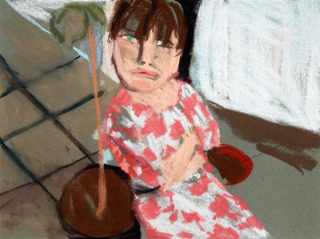 , 'Esme in a Pink and White dress II,' 2016, Monica De Cardenas