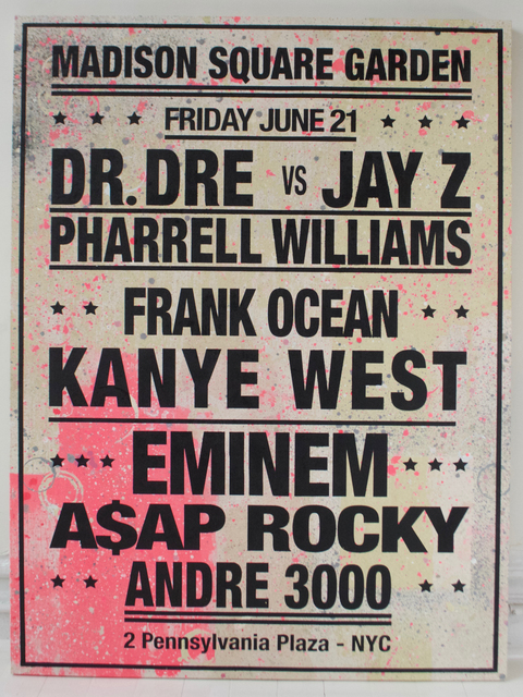 , 'Dream Concert - Madison Sq Garden - Dr Dre vs Jay Z,' 2013, Gastman