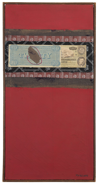 Giulio Turcato, 'Composizione con dollaro', 1962, Drawing, Collage or other Work on Paper, Collage and mixed media, Mazzoleni