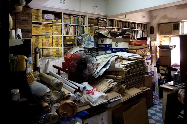 , 'Detail from the studio of Ha Bik Chuen,' 2015, Asia Art Archive