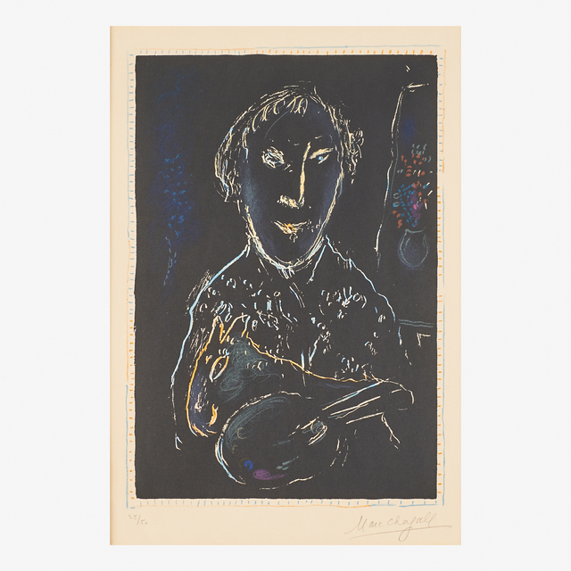 Marc Chagall, 'Auto-Portrait', 1973, Print, Lithograph in colors (framed), Rago/Wright