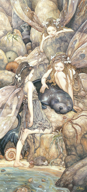 , 'Faeries and Seal,' 2018, IX Gallery
