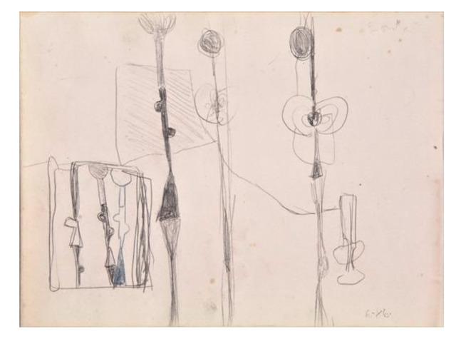 "George Condo, '""Untitled"", 1986, Graphite / Colored Pencil on Paper, Ex. Collection of Rene Ricard, Phillips', 1986, VINCE fine arts/ephemera"