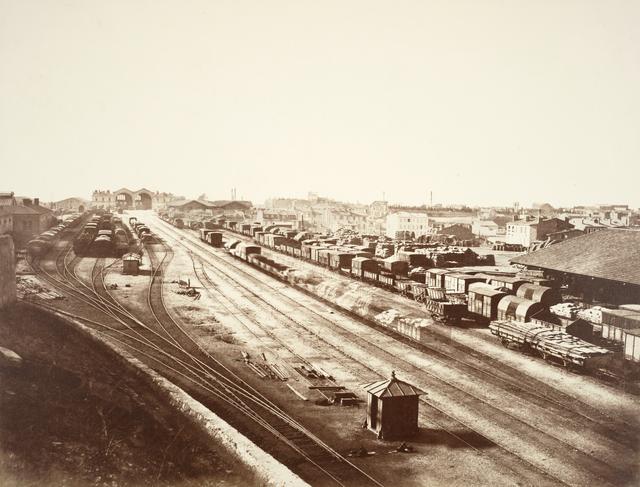 Édouard Baldus, 'Railway Station, Marseilles', ca. 1855, Photography, Albumen print, San Francisco Museum of Modern Art (SFMOMA)