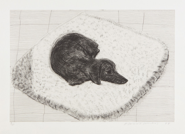 David Hockney, 'Dog Etching No. 12, from Dog Wall', 1998, Phillips