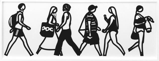 Julian Opie, 'WALKING IN MELBOURNE 3', 2018, Gallery Art