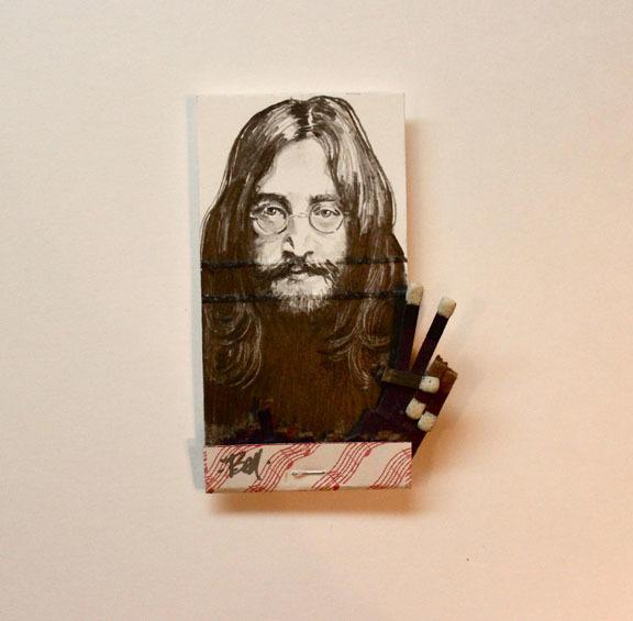 matchbox artists, 'John Lennon', 2016, Muriel Guépin Gallery