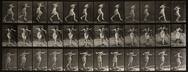 , 'Animal Locomotion: Plate 175 (Woman Skipping Over Stones),' 1887, Beetles + Huxley