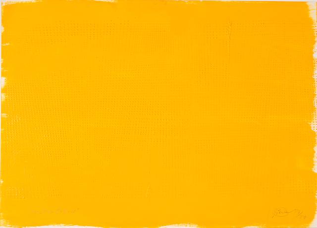 , 'Yellow Raster,' 1957/1984, Galerie Krinzinger