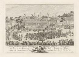 Isidore-Stanislaus-Henri Helman, 'Marche ordinaire de l'empereur de la Chine lorsqu'il passe dans la ville de... (plate XIX)', 1783, Engraving, etching, Getty Research Institute
